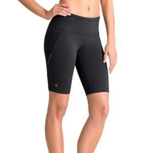 Athleta Black Presto Bermuda Compression Shorts